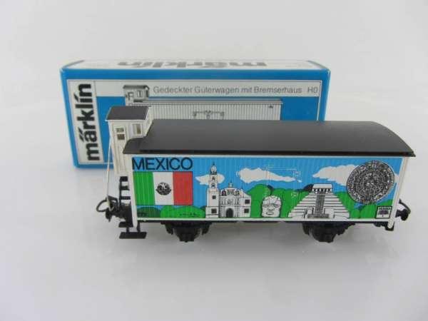 Märklin Basis 4680 Werbewagen 82555A Mexico Flaggen Serie, neuwertig mit OVP