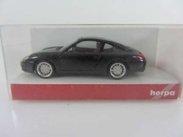 HERPA 24112 1:87 Porsche 911 Targa schwarz neu mit OVP