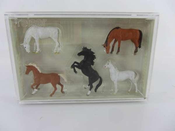 Preiser HO 10156 1:87 Pferde neu mit OVP
