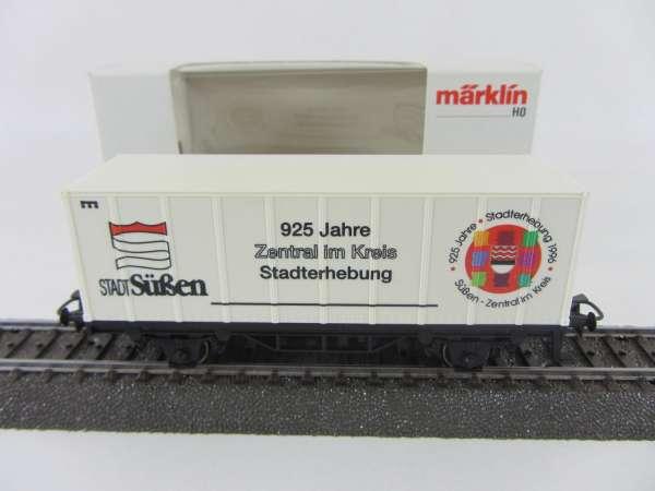 Märklin Basis 4481 Containerwagen 925 Jahre Stadt Süßen mit OVP