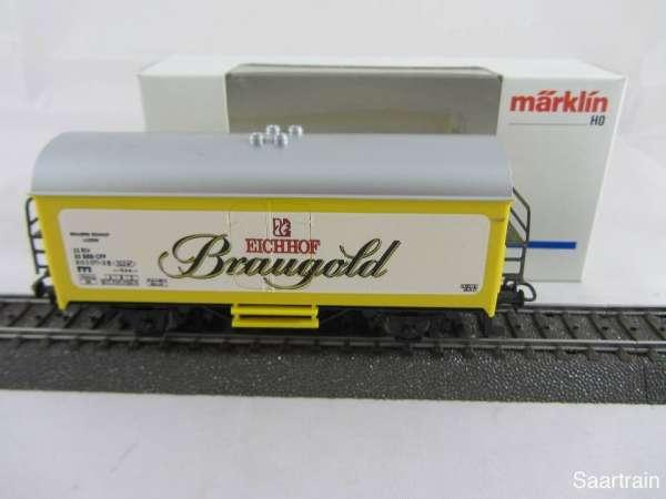 Märklin Basis 4415 Bierwagen Eichhof Braugold Schweiz Neu mit Verpackung