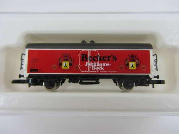 8600 Bierwagen Sondermodell Beckers Bock Bier rote Wagenseiten mit OVP