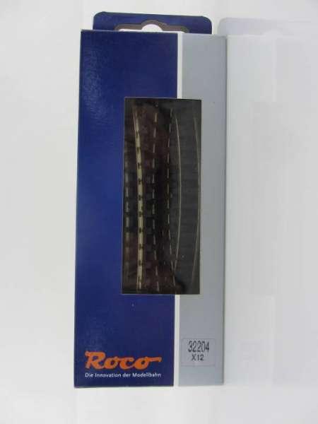 Roco 32204 HOe gebogenes Gleis 12 Stück, Neu-Zustand mit OVP