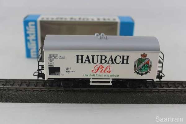 Märklin Basis 4415 Bierwagen Haubach Pils Sondermodell, neu und mit OVP