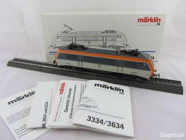 Märklin 3334 Serie BB 26 000 der SNCF orange grau 26004 Neuwertig mit OVP