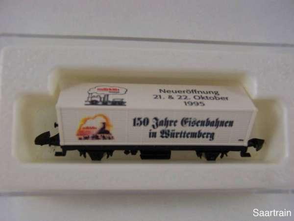 Märklin 8615 Containerwagen 150 Jahre Eisenbahn in Würtemberg mit OVP