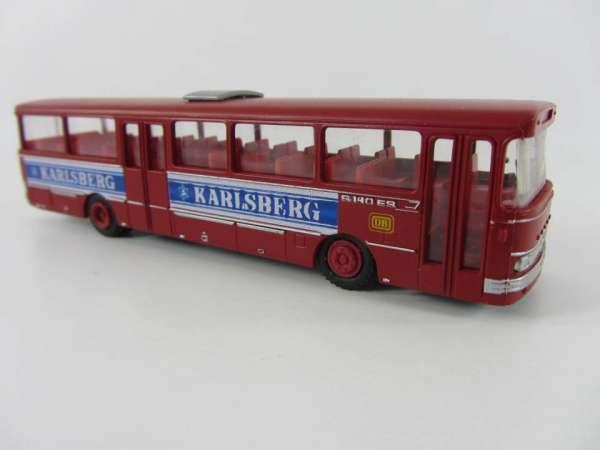 Industriedruck 1:87 Setra 140 Bus rot Karslberg Bier