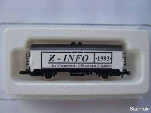 8600 Kühlwagen Z Info 1993 das Infoblatt für den Spur Z Sammler mit OVP