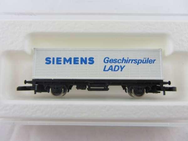 Märklin 8615 Containerwagen Sondermodell SIEMENS Geschirrspüler mit Box