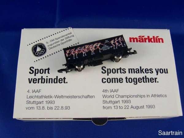 Märklin Sondermodell Messewagen Containerwagen Sport Verbindet 1993 mit OVP