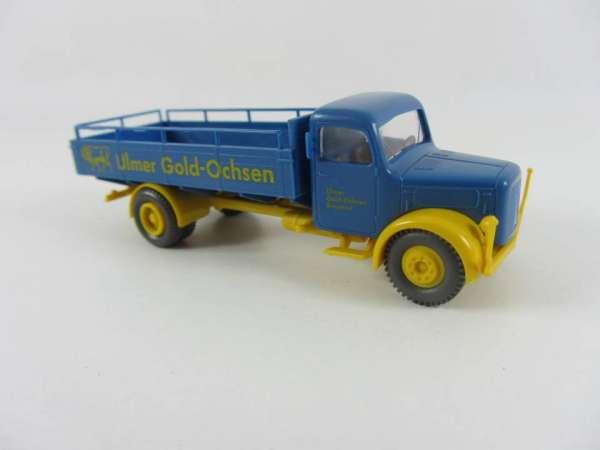 Brekina 1:87 Bier-LKW MAN Ulmer Gold Ochsen I, sehr guter Zustand, mit OVP