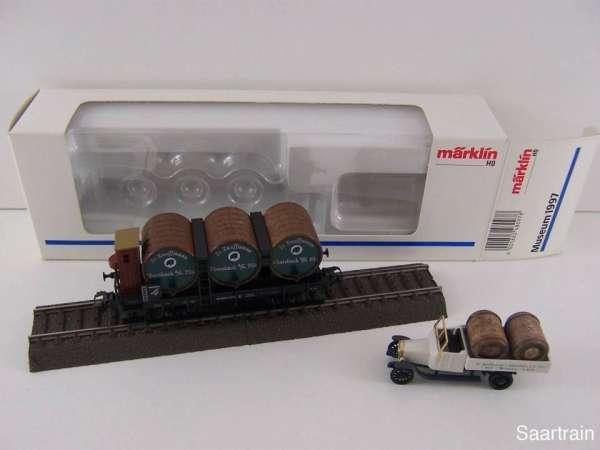 Märklin Museumswagen 1997 Kaufmann Ebersbach mit LKW und Originalverpackung