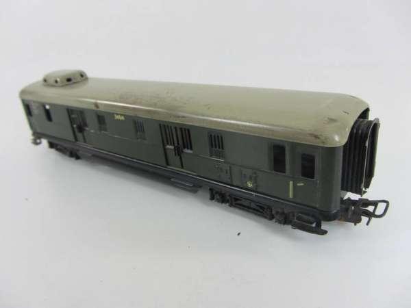 Märklin 346/4 Schürzenwagen aus Blech, grün Gepäckwagen (I), für Bastler