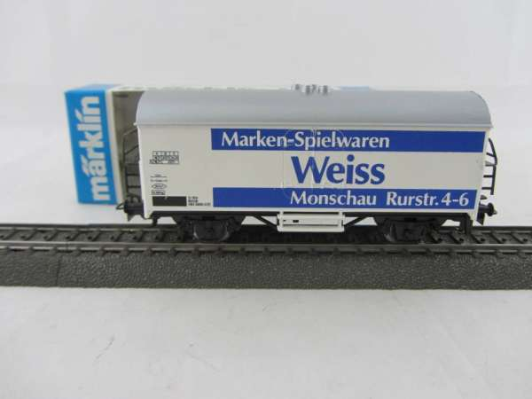 Märklin Basis 4415 Werbewagen Spielwaren Weiss Sondermodell, neu und mit OVP