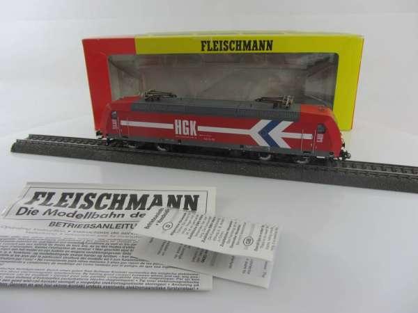 Fleischmann 81 4320 Elektrolokomotive Br. 145-CL 011 der HGK in rot, AC-Digital, sehr gut mit OVP