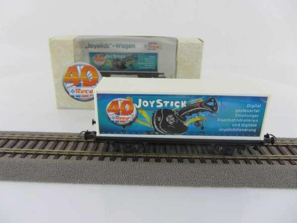 """Basis ROCO Containerwagen mit Beschriftung """"Joystick"""" mit Verpackung"""