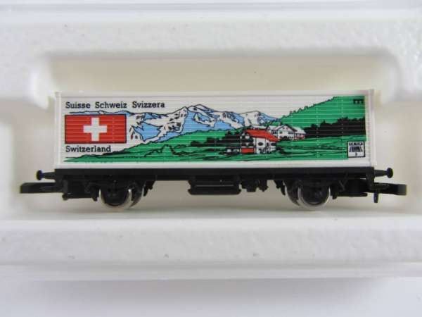 Märklin 8615 Containerwagen Schweiz USA Flaggenserie mit Verpackung
