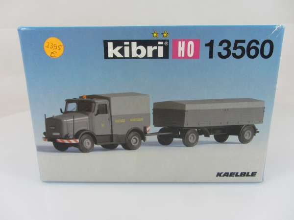 KIBRI 13560 KAELBLE mit Anhänger 1:87 neu und mit Verpackung