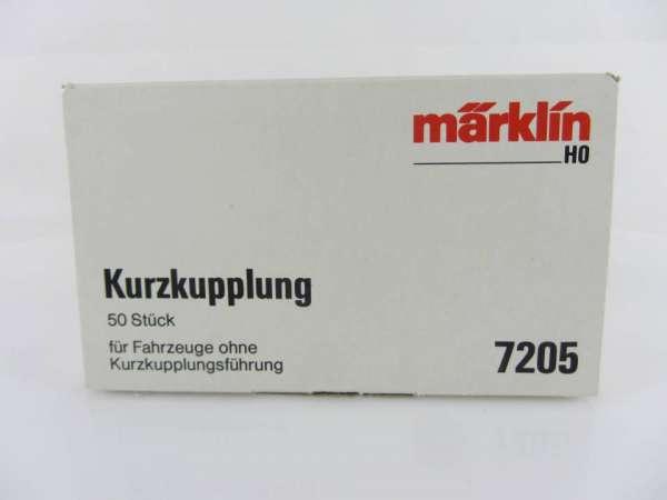 Märklin 7205 Kurzkupplung, 50 Stück, neuwertig und originalverpackt
