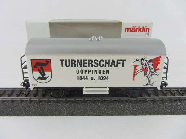 Märklin Basis 4415 Werbewagen Turnerschaft Göppingen 1844 und 1894 Sondermodell Neu mit OVP