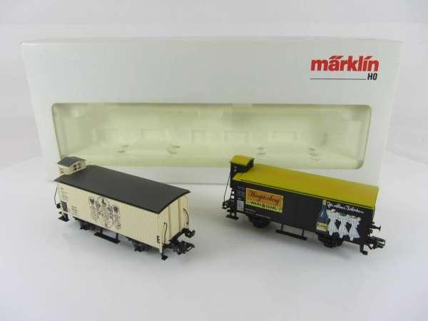 Märklin 31636 Wagenset Hengstenberg 2 Güterwagen Basis 4680 neuwertig und mit OVP