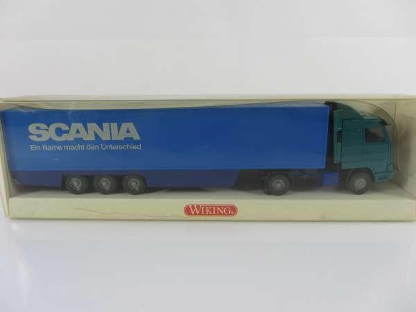 Wiking 528016 HO 1:87 Kühlkoffersattelzug Scania, neu und mit OVP