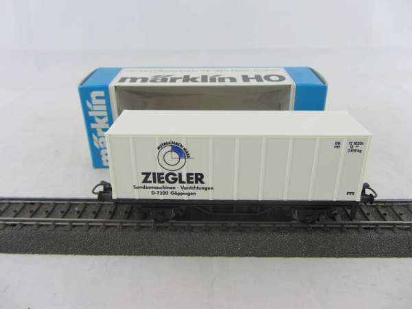 Märklin Basis 4481 Containerwagen Ziegler Göppingen mit OVP