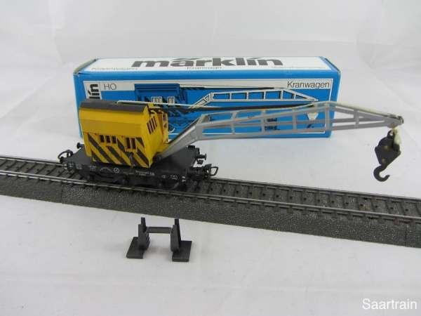 Märklin 4671 Kranwagen gelb (V) gebraucht guter Zustand mit Originalverpackung
