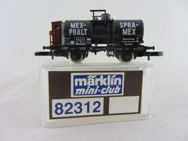Märklin 82312 Kesselwagen Mex-Phalt, 2-achsig, sehr guter Zustand mit Verpackung