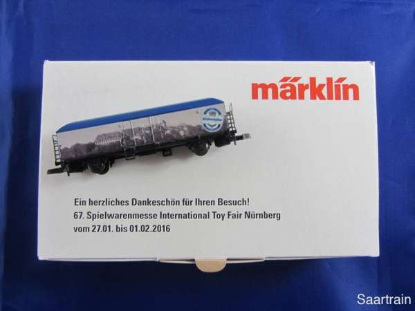 Märklin Sondermodell Spielwarenmesse 2016 Weihenstephan Bierwagen mit OVP