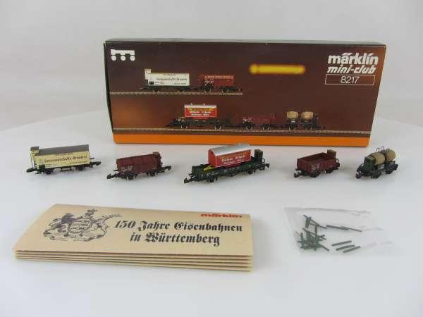 Märklin 8217 Güterwagen-Set Würtemberg, guter Zustand und originalverpackt