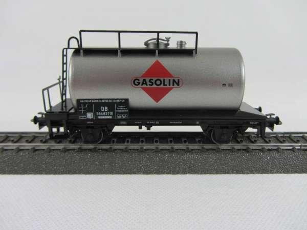 Märklin Kesselwagen GASOLIN der DB in silbern sehr gut aber ohne Verpackung