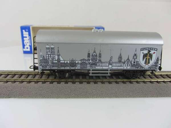 Baur HO Kühlwagen Städtewagen München silbern mit Originalverpackung