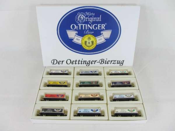 Basis 8615 Oettinger Bierzug mit 12 Bierwagen Container Sondermodell mit OVP