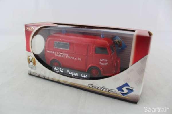 1:43 Solido 4834 Peugeot D4A Feuerwehr Sapeurs Pompiers