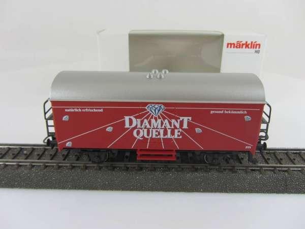 Märklin Basis 4415 Werbewagen Diamant Quelle, Sondermodell mit Verpackung