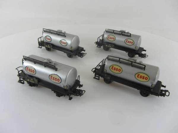 Märklin 4501 Kesselwagen ESSO (4 Stück) gebraucht ohne Verpackung