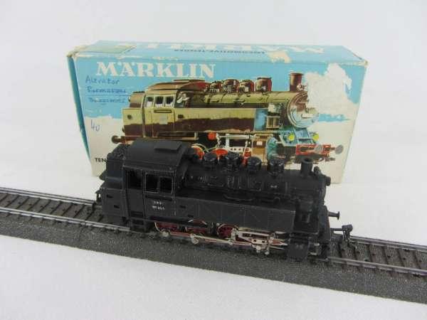 Märklin 3032 Dampflok Br 81 004 der Deutschen Bundesbahn in schwarz mit hellblauer OVP