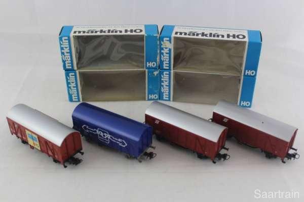 Märklin 4401, 4407 und 4412 Güterwagen-Set der ÖBB (4 Stück) gebraucht mit OVPP
