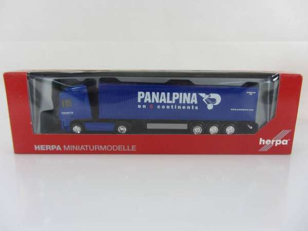 HERPA 154505 1:87 DAF XF 105 SC Container Panalpina neu mit OVP