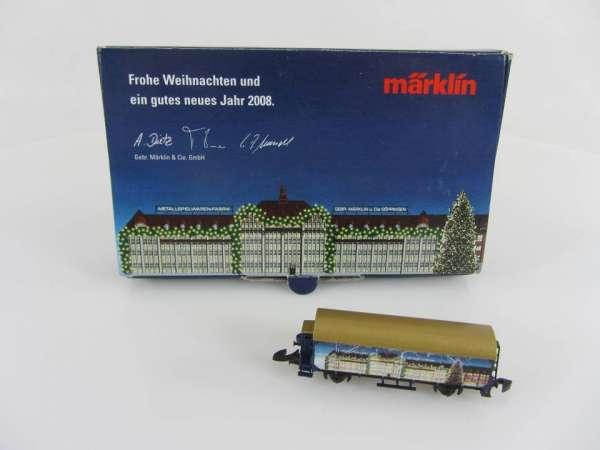 Märklin Sondermodell Jahreswechsel 2007/08 Weihnachtswagen mit OVP Güterwagen