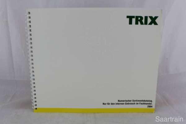 "Trix ""Sortimentskatalog für den Fachhandel 2004"""