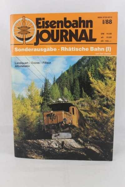 """Eisenbahnjournal """"Sonderausgabe-Rhätische Bahn I"""" I/88"""