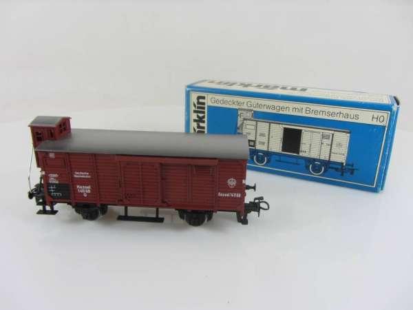 Märklin 4695 Gedeckter Güterwagen G10 in braun DR neuwertig mit Originalverpackung