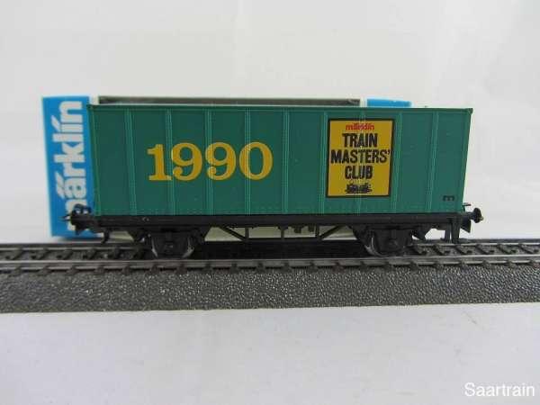 Märklin Basis 4481 Containerwagen Märklin Train Master Club Schweden 1990 m. OVP