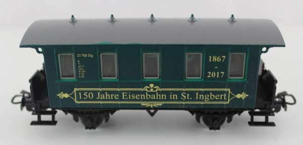 Basis 4107 Personenwagen 150 Jahre Eisenbahn in St.Ingbert, grün, Sondermodell