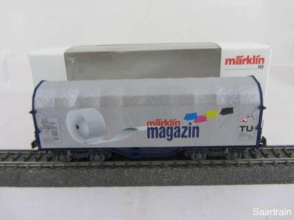 Märklin Magazin Wagen 2001 Schiebeplanenwagen 47201 Neuwertig und mit OVP