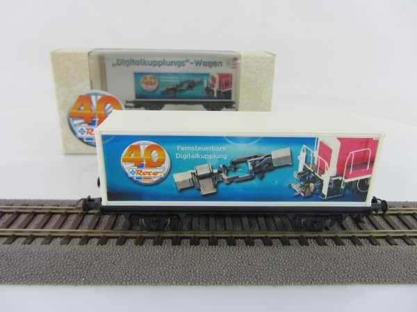 """Basis ROCO Containerwagen mit Beschriftung """"Digital-Kupplung"""" mit Verpackung"""