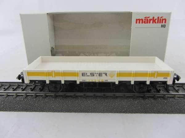 "Märklin Basis 4423 Flachwagen ""Elster"", guter Zustand mit Verpackung"