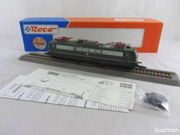 ROCO 63639 Elektrolok Br 151 072 6 der DB AG grün sehr guter Zustand mit OVP